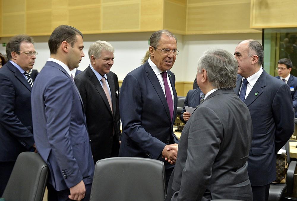 Глава МИД России Сергей Лавров на заседании Комитета министров Совета Европы в Брюсселе