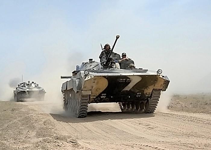 Военные учения в Таджикистане
