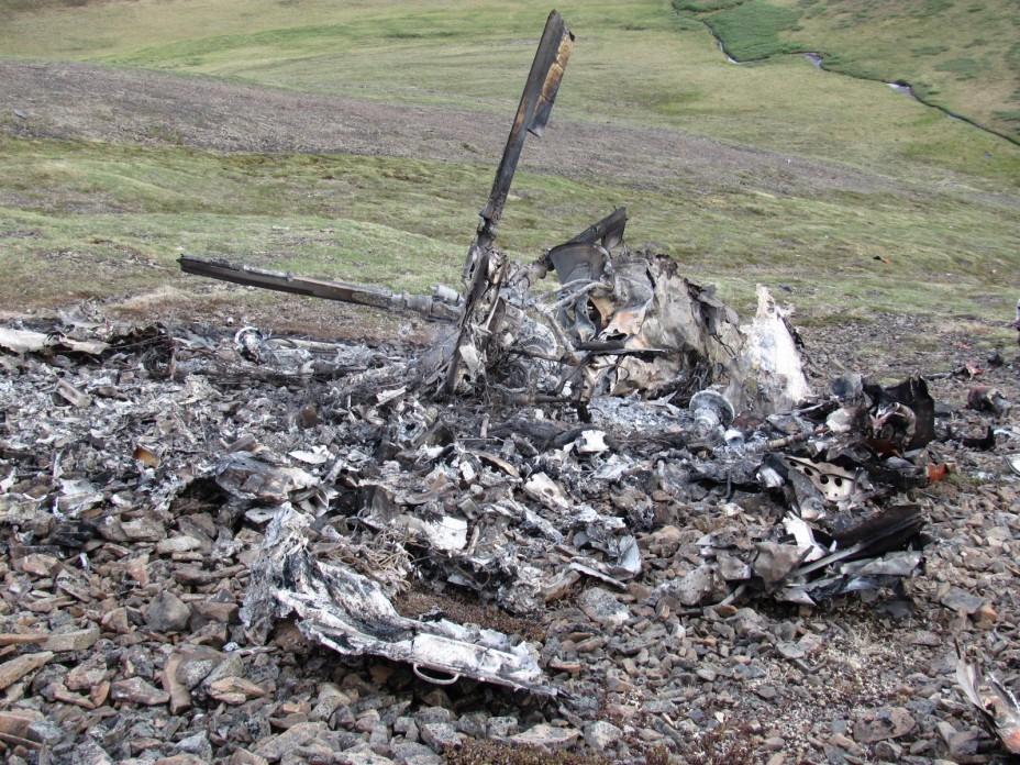 Место падения вертолёта