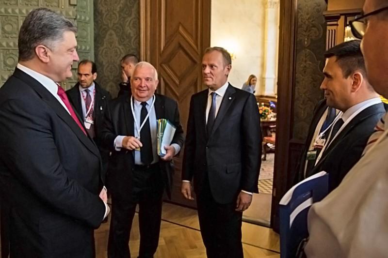 Пётр Порошенко и Дональд Туск