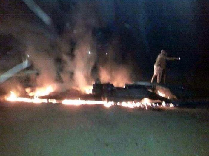 Сбитый истребитель ВВС Саудовской Аравии