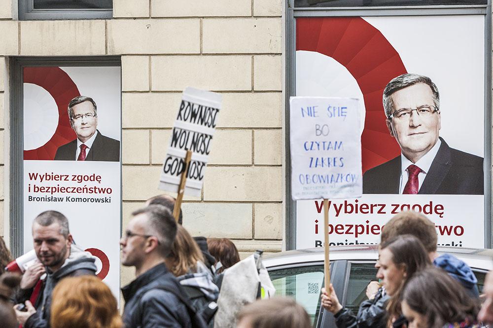 Предвыборная агитация президента Польши Бронислава Коморовского