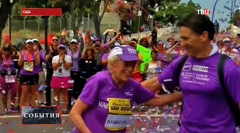 Харриет Томпсон, участница марафона