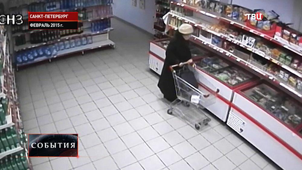 """Блокадница Рауза Галимова в супермаркете """"Магнит"""""""