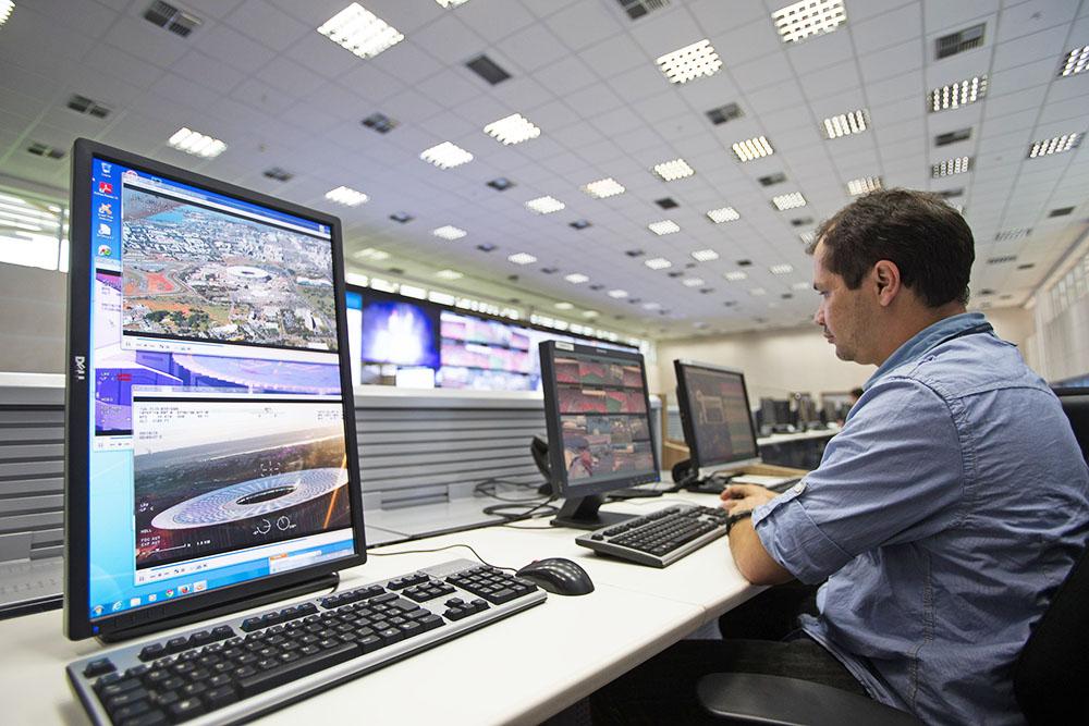 Центр видеонаблюдения в США