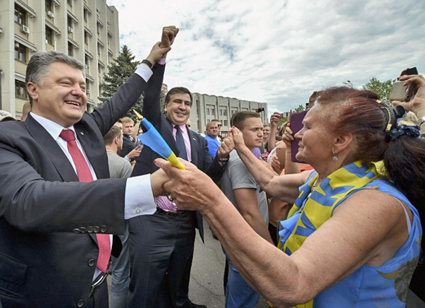 Пётр Порошенко и Михаил Саакашвили