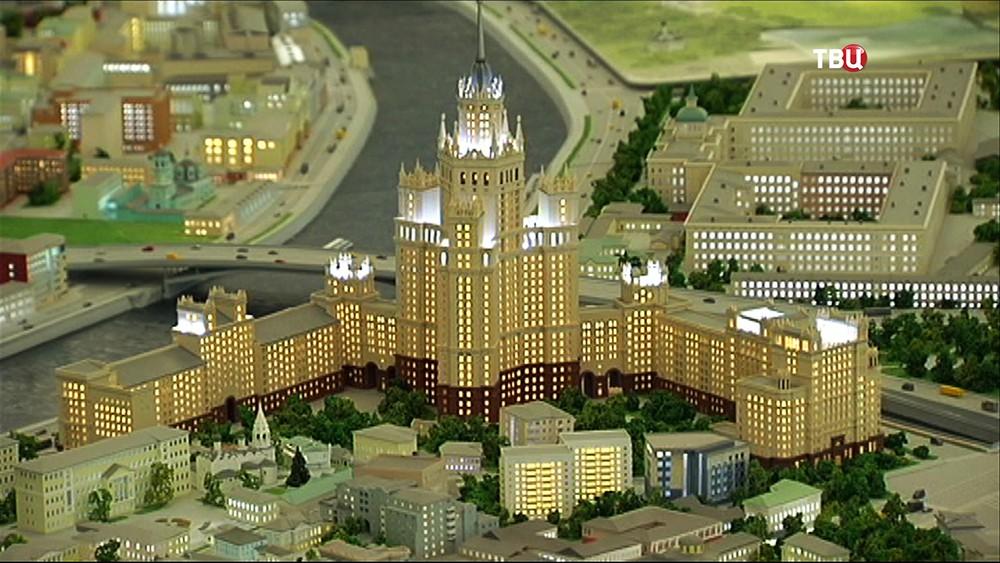 Интерактивный макет Москвы