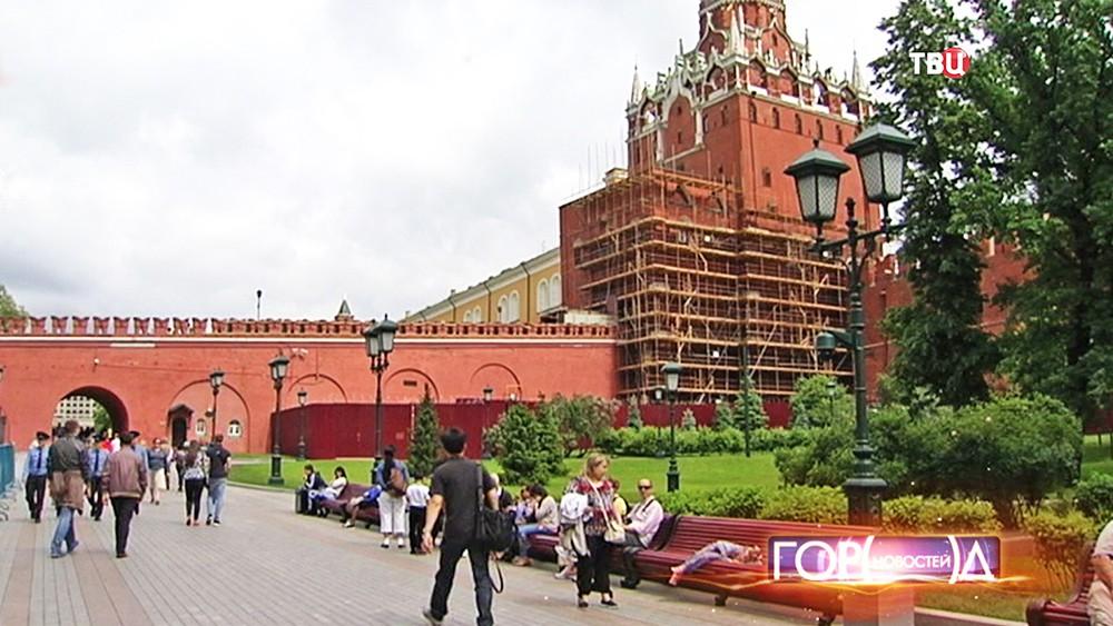 Реставрация Троицкой башни Кремля