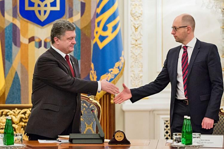 Пётр Порошенко и Арсений Яценюк