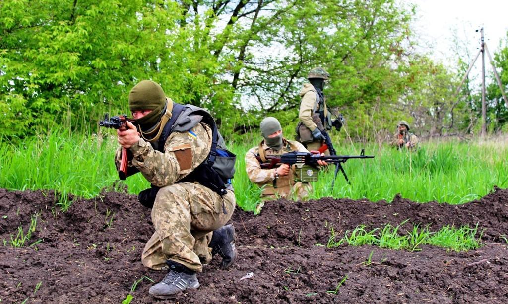 Диверсионная группа украинских силовиков в Донбассе