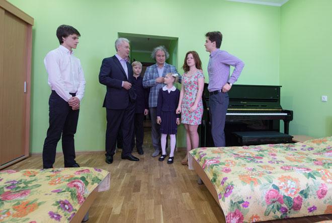 Сергей Собянин в музыкальной школы имени Гнесиных