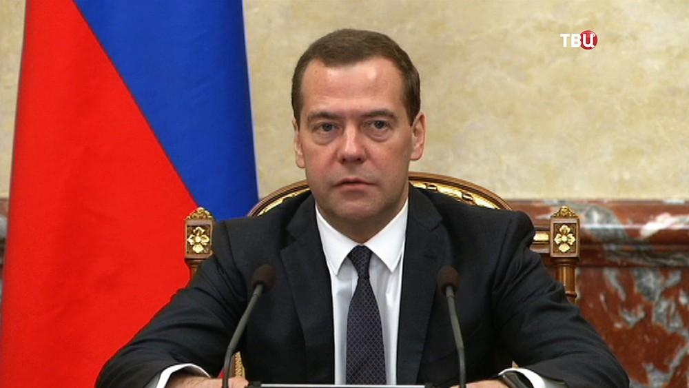 Председатель правительства России Дмитрией Медведев