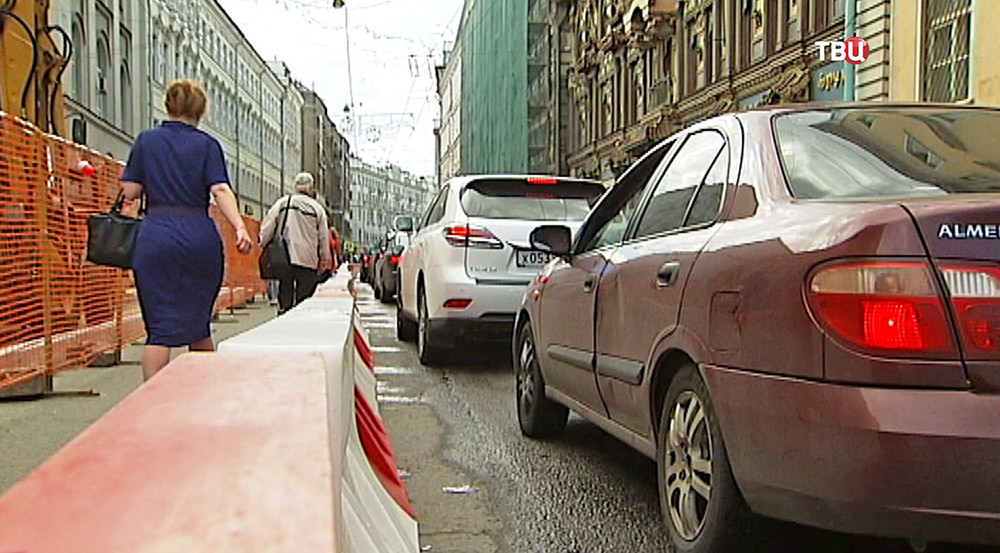 Ремонтные работы на Мясницкой улицы