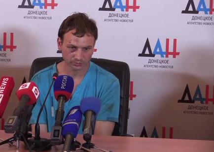 Пленный украинский солдат Роман Марченко