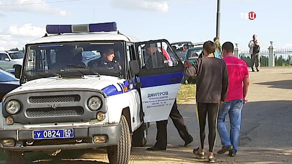 Полиция на месте происшествия в детском лагере