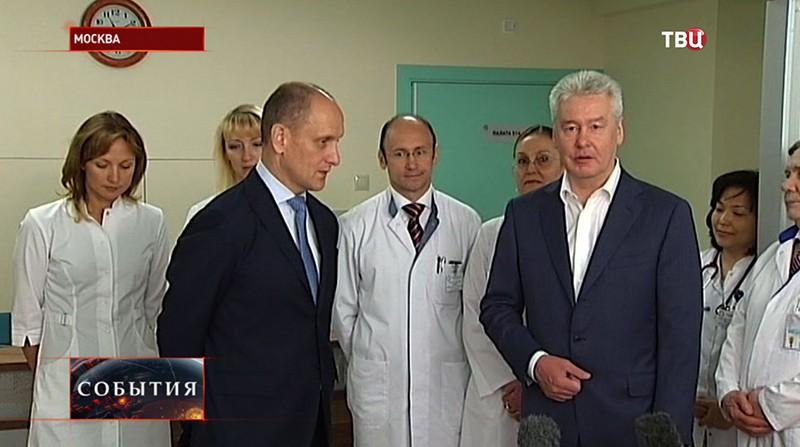 Сергей Собянин осматривает ход реконструкции МКНЦ на шоссе Энтузиастов