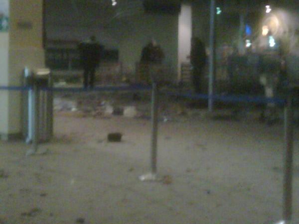 """Зал прилета аэропорта """"Домодедово"""" после взрыва"""