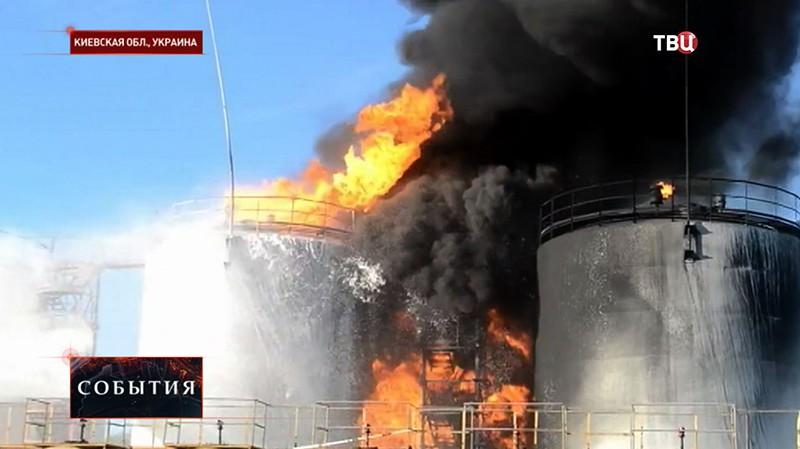Пожар в Киеве