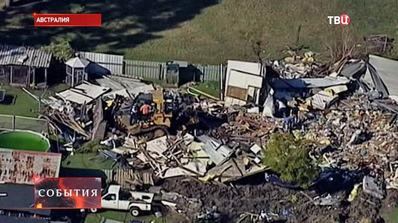 Разрушенный дом в Австралии