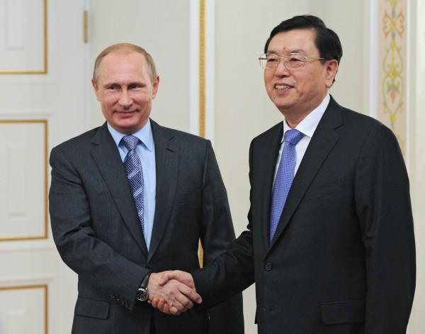 Владимир Путин и Чжан Дэцзян