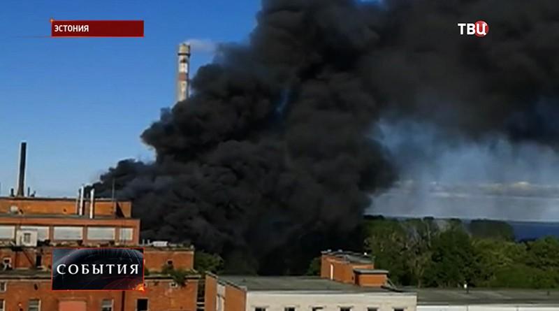 Пожар на заводе в Эстонии