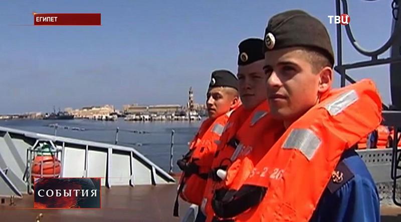 Учения ВМС России в Египте