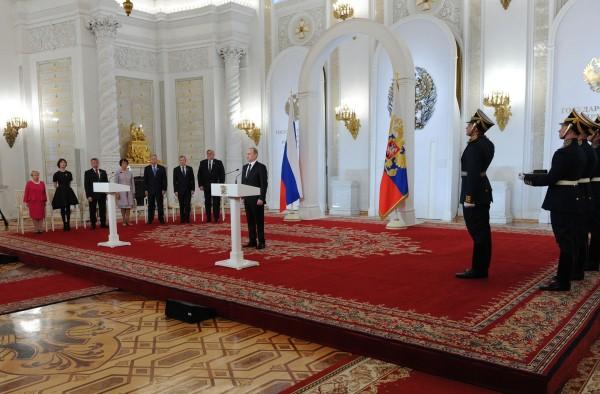 Президент России Владимир Путин на церемонии вручения Государственных премий