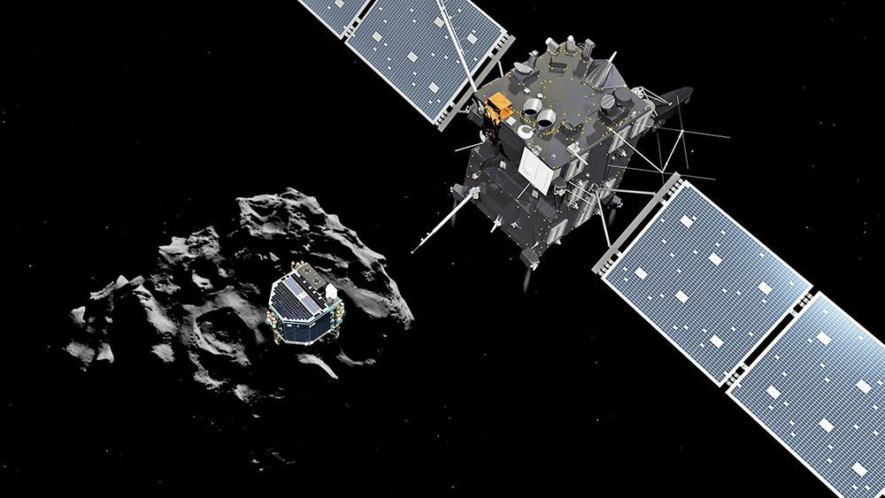 Зонд Philae на поверхности кометы Чурюмова-Герасименко