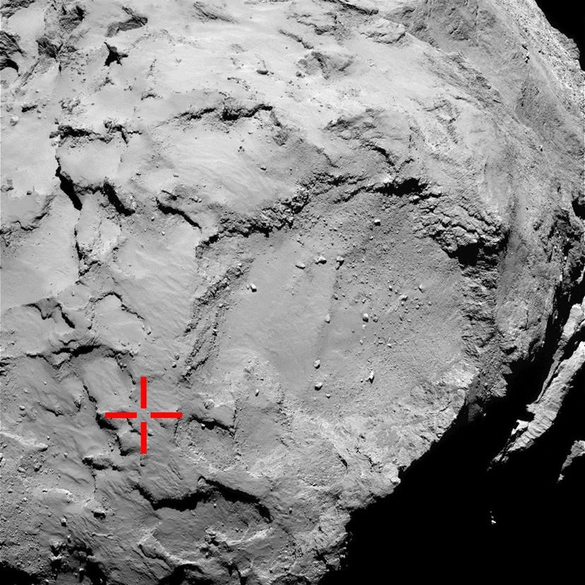 Фотографии поверхности кометы Чурюмова-Герасименко, сделанные зондом Philae