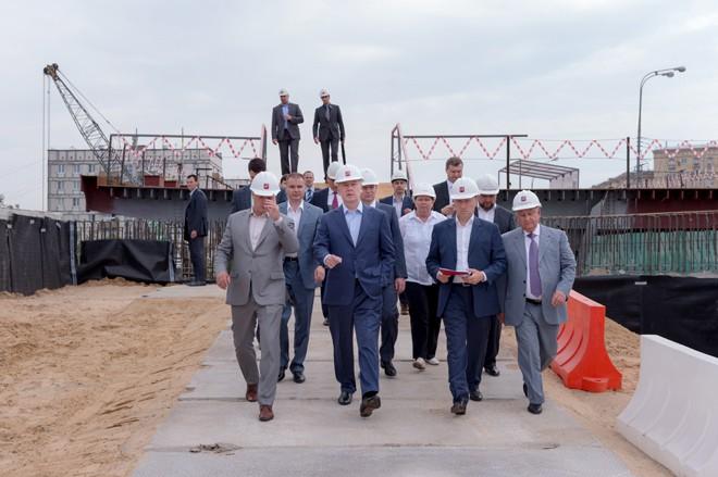 Сергей Собянин на реконструкции Волоколамского путепровода