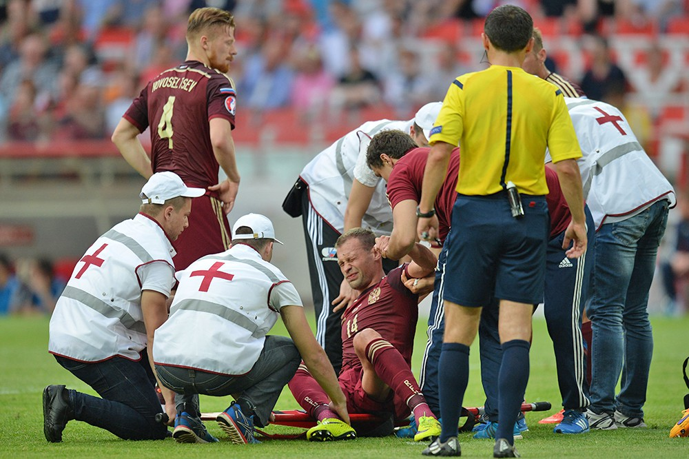 Футбольный матч между сборными России и Австрии