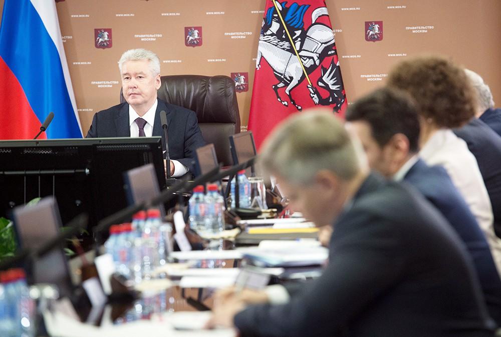 Мэр Москвы Сергей Собянин на заседании