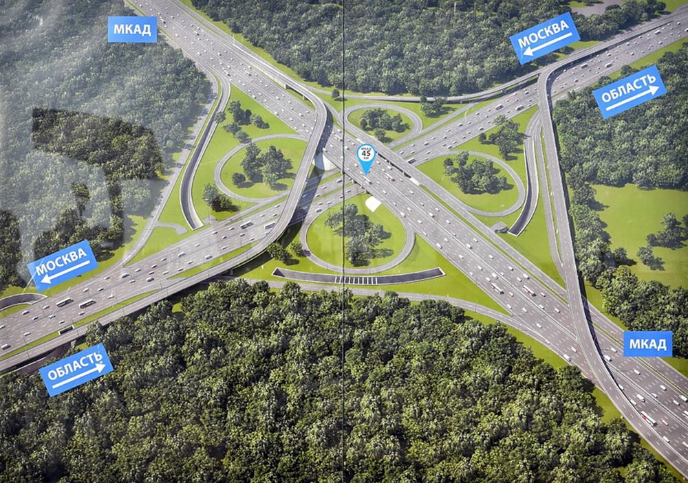 План реконструкции развязки на пересечении МКАД и Ленинского проспекта