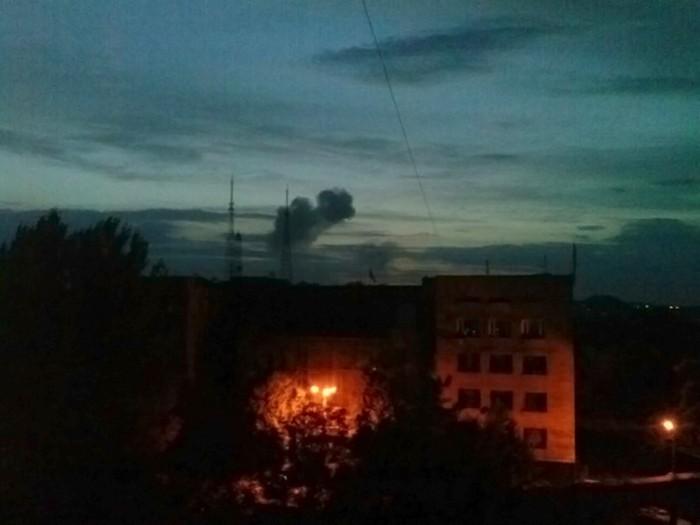 Взрыв в Донецке