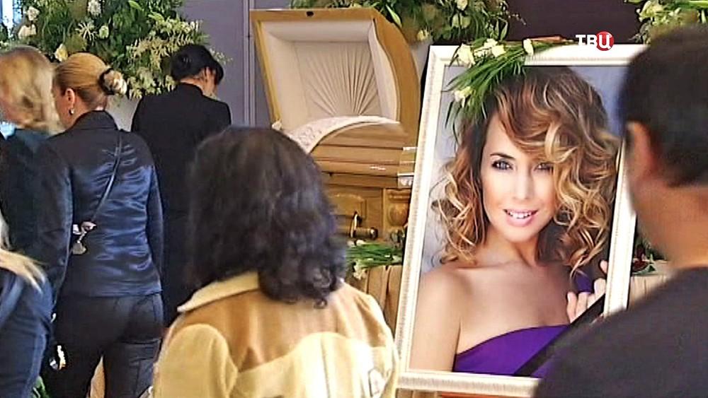 Церемония прощания с певицей Жанной Фриске