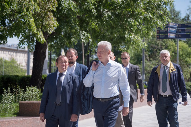 Сергей Собянин на завершении капитального ремонта Октябрьского тоннеля