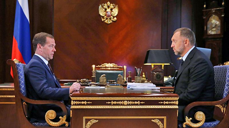Дмитрий Медведев и Олег Дерипаско