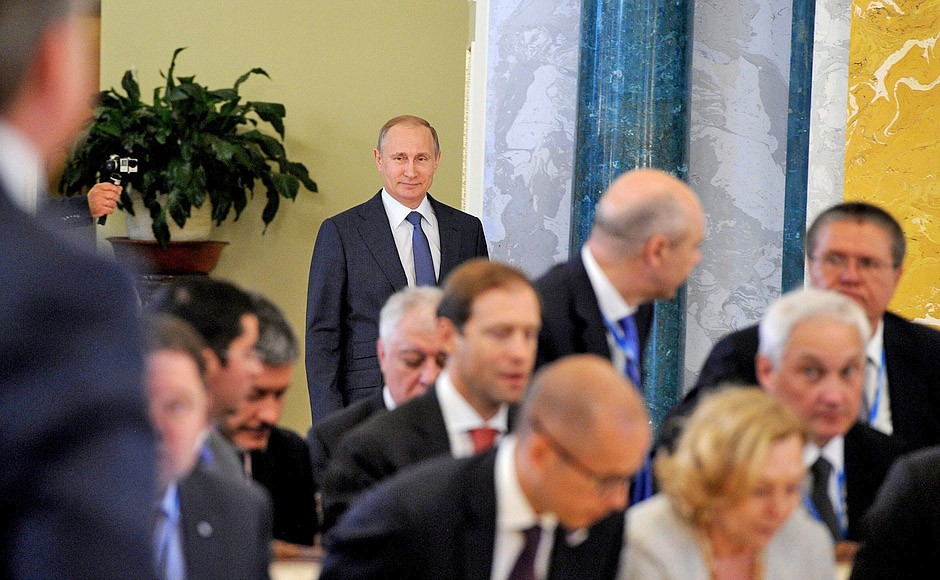 Встреча Владимира Путина с руководителями российских промышленных предприятий