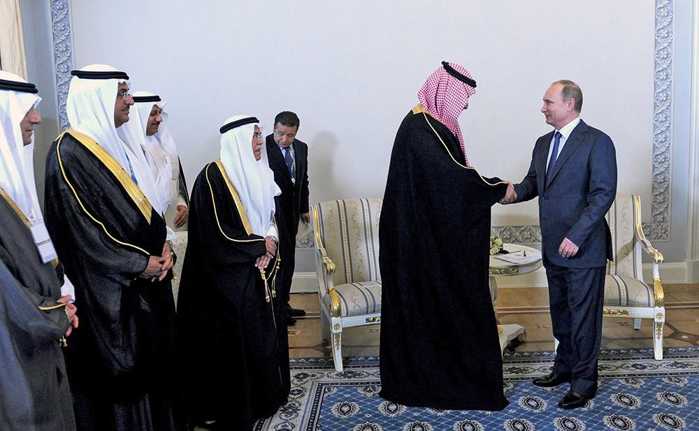 Президент России Владимир Путин встретился с заместителем Наследного принца, Министром обороны Саудовской Аравии Мухаммедом бен Сальманом