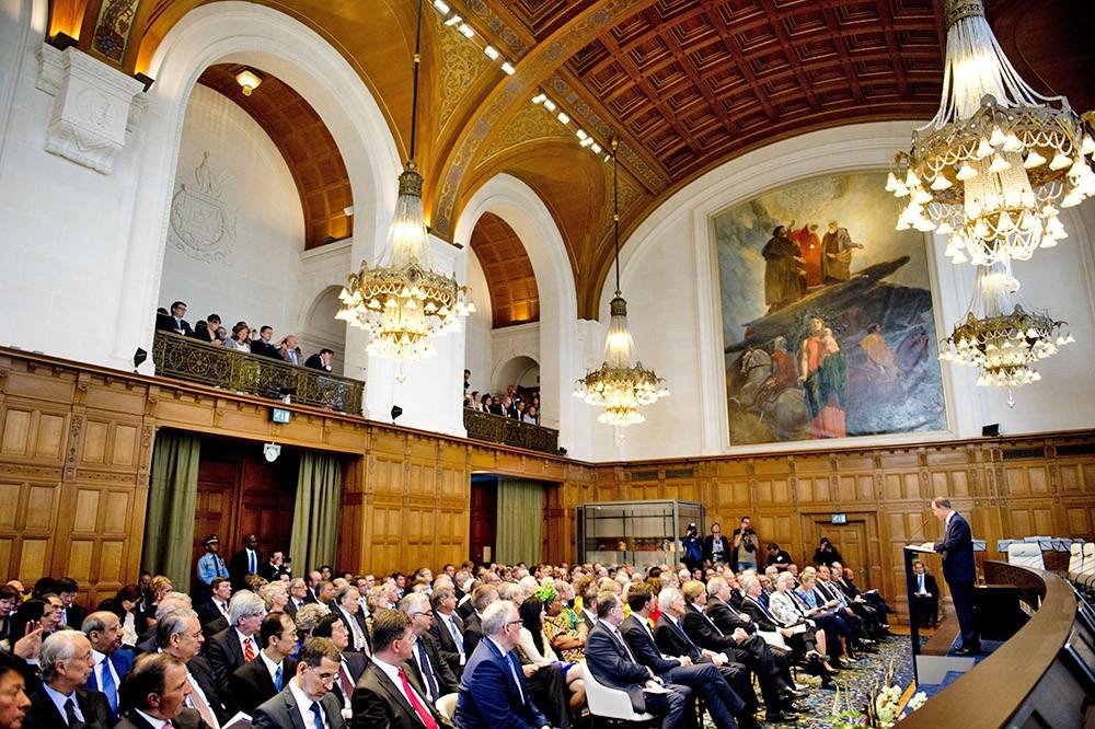 Заседание Международного арбитражного суда в Гааге