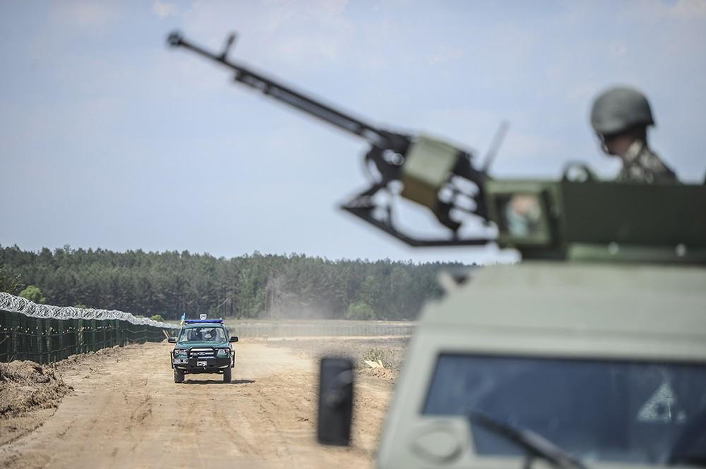 Украинские заградительные сооружения на границе