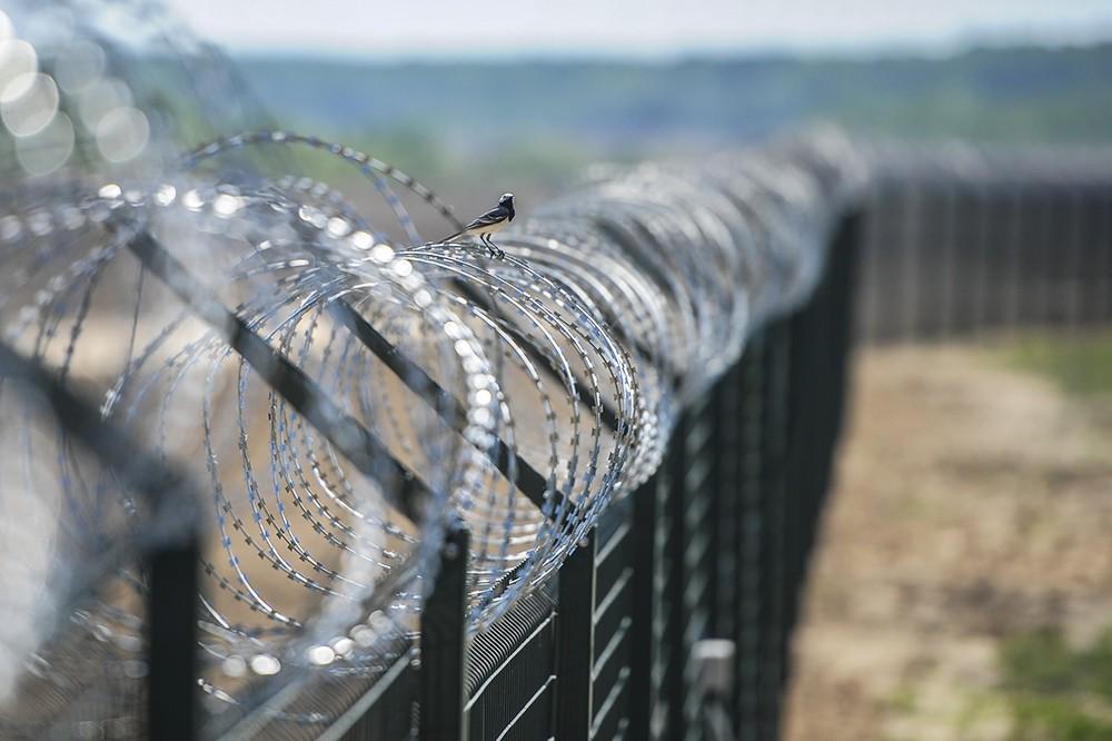 Заградительные сооружения на границе Украины