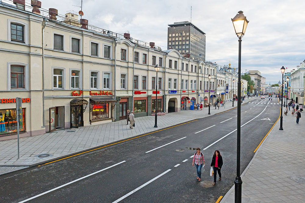 Пешеходная зона в Москве