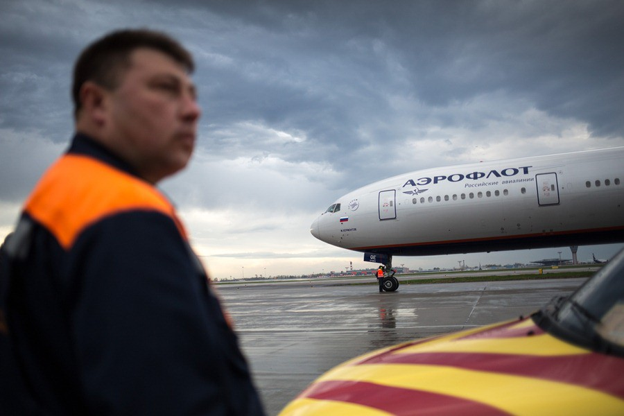 Самолет авиакомпании'Аэрофлот