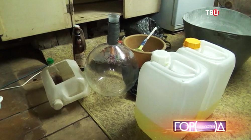 Лаборатория по производству наркотика