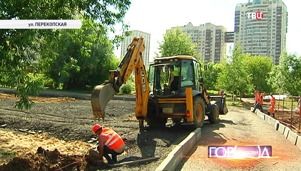 Строительство парка 70-летия Победы в Великой Отечественной войне