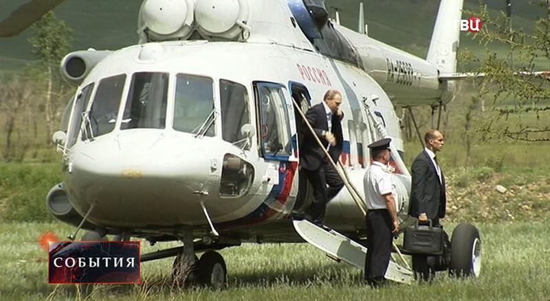 Владимир Путин прибыл в Хакасию