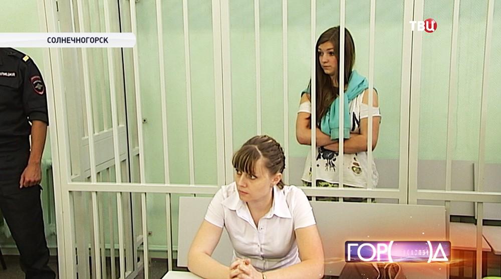Надежда Киселева в зале суда