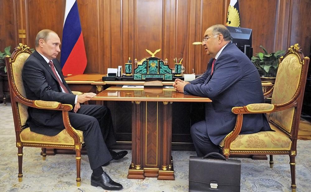 Владимир Путин и Алишер Усманов