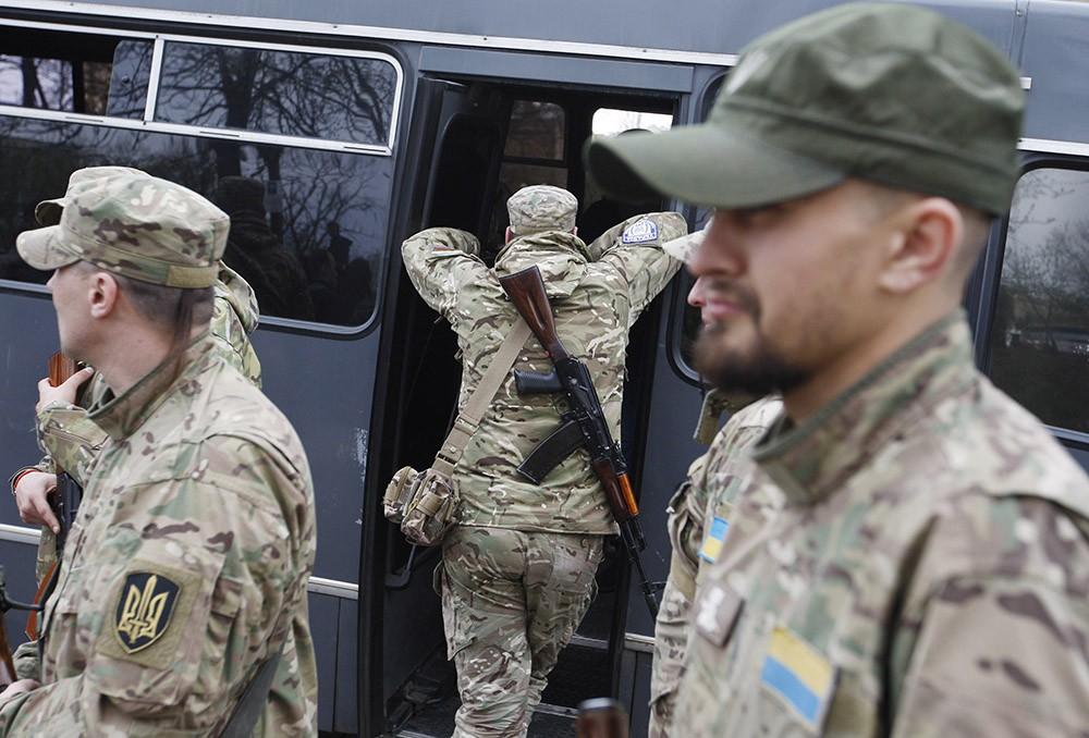 Бойцы добровольческого батальона Украины